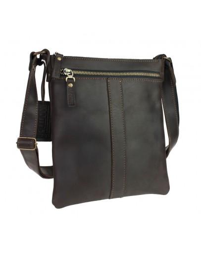Фотография Коричневая сумка-планшетка через плечо 76022-SKE