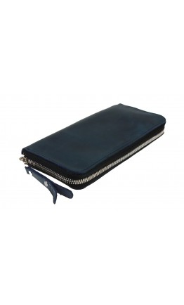 Синий мужской клатч кожаный 7603195-SKE