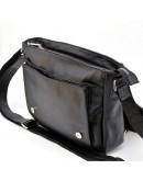 Фотография Кожаная черная мужская удобная сумка на плечо Tarwa 76046A-1