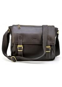 Коричневая вместительная мужская кожаная сумка 76046C-1