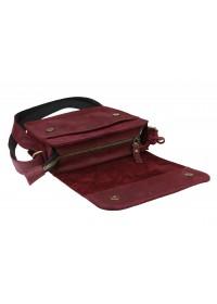 Маленькая женская кожаная сумка бордового цвета 7625W-SKE