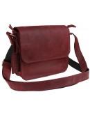 Фотография Маленькая женская кожаная сумка бордового цвета 7625W-SKE