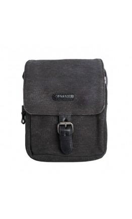 Серая кожаная мужская сумка ткань и кожа Katana k76585-1