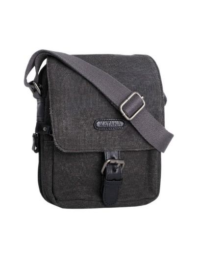 Фотография Серая кожаная мужская сумка ткань и кожа Katana k76585-1