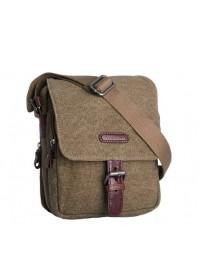 Коричневая сумка мужская ткань и кожа Katana k76585-3