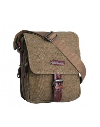 Фотография Коричневая сумка мужская ткань и кожа Katana k76585-3