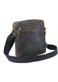 Мужская сумка из натуральной кожи коричневая 766001-SGE