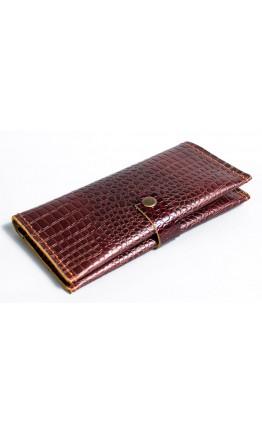 Мужское коричневое портмоне с тиснением Man 76610-M