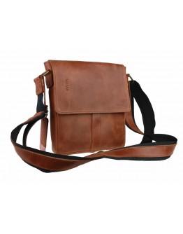 Светло-коричневая кожаная мужская сумка на плечо 76625-ske
