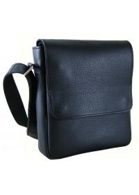 Черная кожаная плечевая сумка - мессенджер 76677-SGE