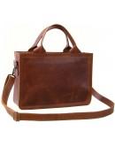 Фотография Кожаная сумка формата А4 рыжая 766900W-SGE