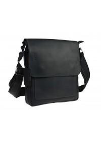 Черная мужская кожаная сумка с клапаном 76832-SKE