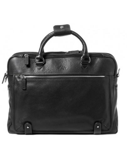 Фотография Кожаная мужская чёрная сумка для ноутбука Katana k769258-1