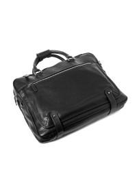 Кожаная мужская чёрная сумка для ноутбука Katana k769258-1