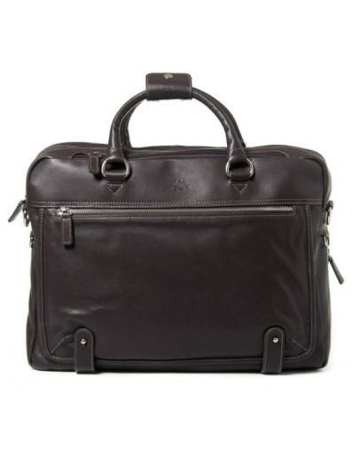 Фотография Кожаная мужская коричневая сумка для ноутбука Katana k769258-2