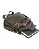 Фотография Темно-коричневая мужская сумка через плечо 77002-SGE