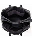 Фотография Мужская черная кожаная сумка трансформер рюкзак 77014A-1
