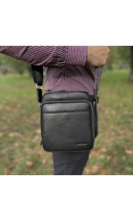Мужская сумка черная на плечо Marco Coverna 7702-1A