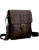 Фотография Коричневая сумка кожаная на плечо Cross 7702