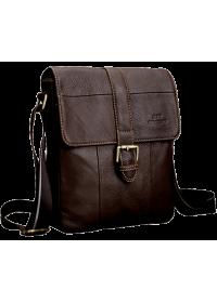 Коричневая сумка кожаная на плечо Cross 7702