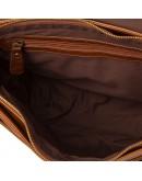Фотография Рыжая кожаная мужская сумка на плечо 77022B-3