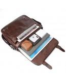 Фотография Винтажная модная сумка на плечо из кожи 77022Q