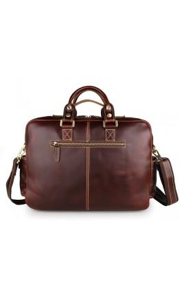 Роскошная мужская вместительная сумка из кожи 77028X