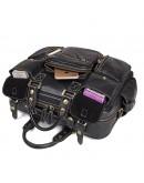Фотография Черная кожаная многофункциональная сумка 77028A-1