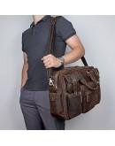 Фотография Вместительная брутальная кожаная сумка 77028R