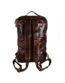 Фотография Кожаный мужской рюкзак большой коричневый 77048