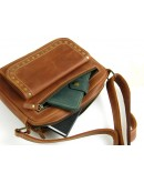 Фотография Cветло-коричевая женская кожаная сумка на плечо 77049-SGE
