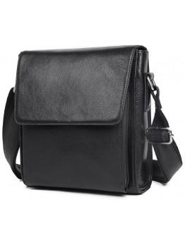 Черная кожаная мужская сумка через плечо 77055A-2