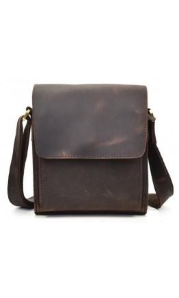 Темно-коричневая кожаная мужская сумка 77055B2-1