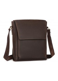 Темно-коричневая мужская сумка на плечо 77055DB