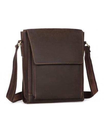 Фотография Темно-коричневая мужская сумка на плечо 77055DB