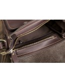 Фотография Коричневый кожаный мессенджер на плечо 77055b-1