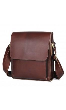 Коричневая мужская сумка на плечо 77055X-2