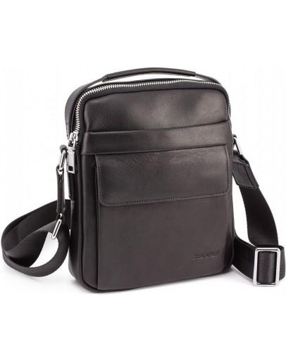 Фотография Мужская сумка - барсетка кожаная Marco Coverna 7706-1A black