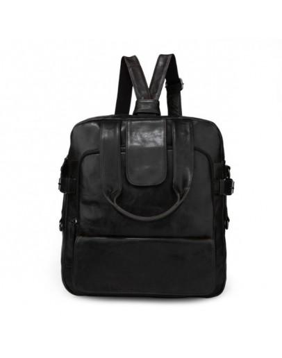 Фотография Тёмно-серо-коричневая мужская сумка рюкзак 77065J
