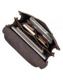 Фотография Большая кожаная винтажная мужская коричневая сумка 77072Q