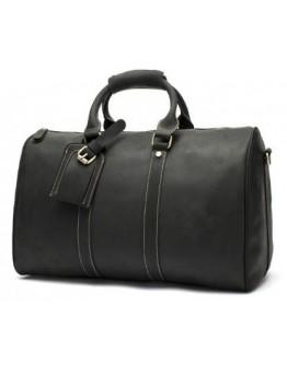 Черная мужская дорожная сумка, натуральная кожа 77077A