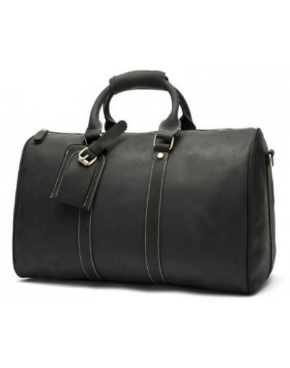 Фотография Черная мужская дорожная сумка, натуральная кожа 77077A