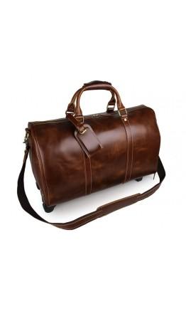 Мужская дорожная кожаная деловая сумка 77077LB-2