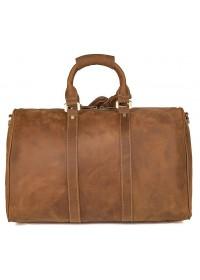 Кожаная большая сумка коричневая из винтажной добротной кожи 77077b