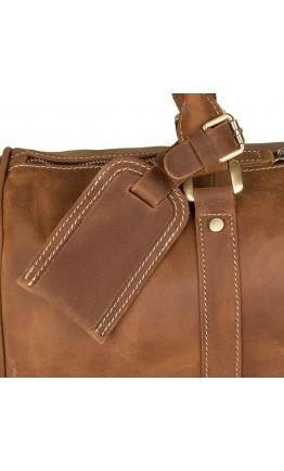 Кожаная большая сумка коричневая из конской кожи 77077b