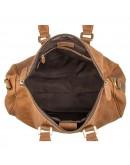 Фотография Кожаная большая сумка коричневая из конской кожи 77077b