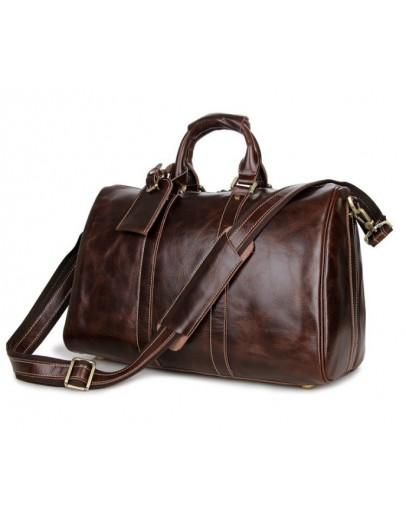 Фотография Большая мужская коричневая сумка для командировок 77077c