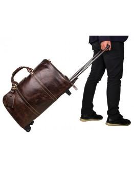 Мужская кожаная дорожная сумка, с колесиками 77077LC