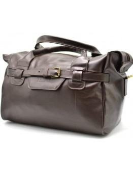 Дорожная коричневая кожаная сумка для командировок Tarwa 77079-3md-kor