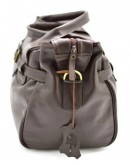 Фотография Дорожная коричневая кожаная сумка для командировок Tarwa 77079-3md-kor